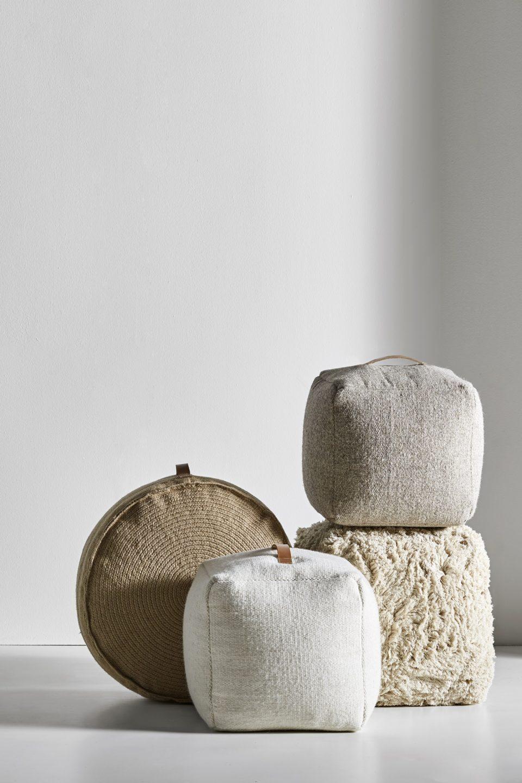Anno Aw19 Pouffes Cotton Jute Wool